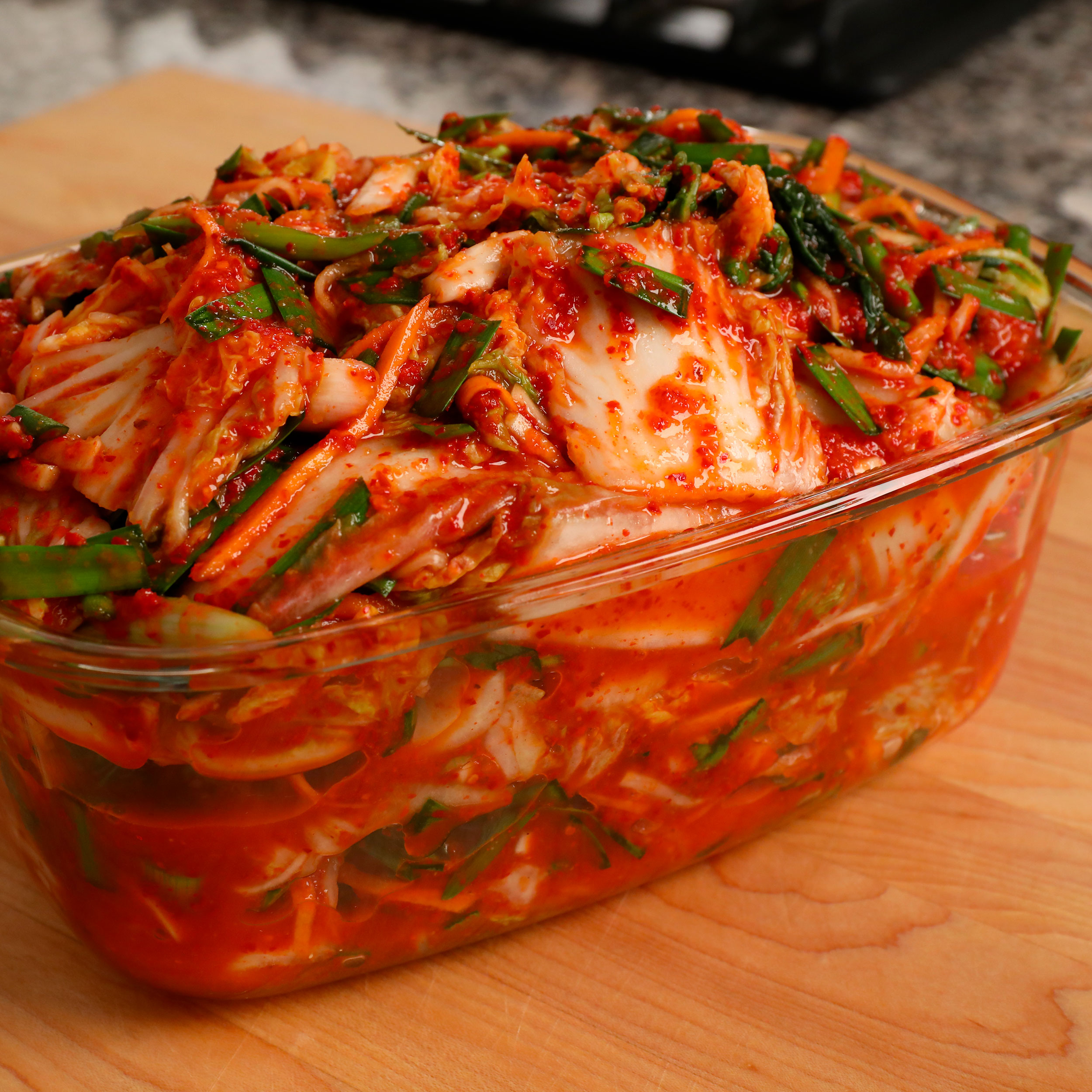 Vegetarian and vegan kimchi (Chaesik-kimchi: 채식김치) recipe - Maangchi.com