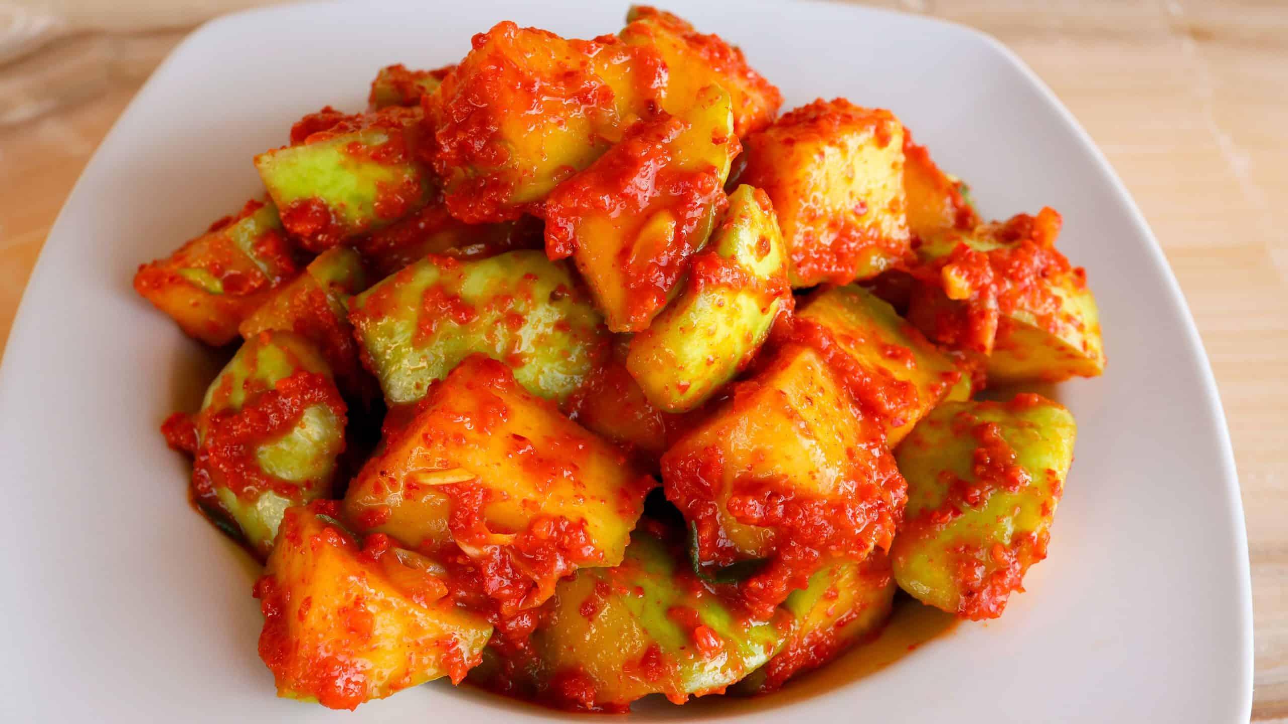 Kimchi-made with Chayote
