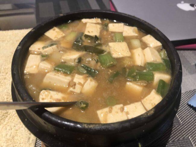 First attempt to make Korean Soybean Paste Stew!