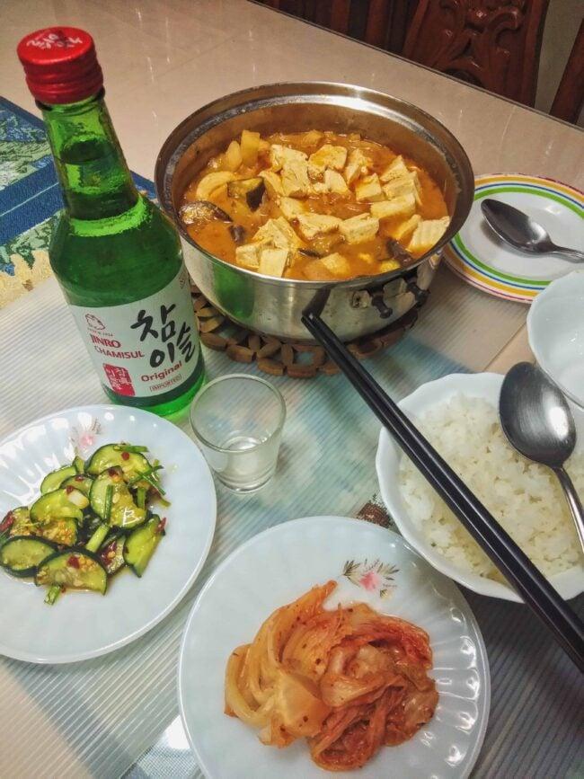 Doenjang Jjiigae and drinking spree