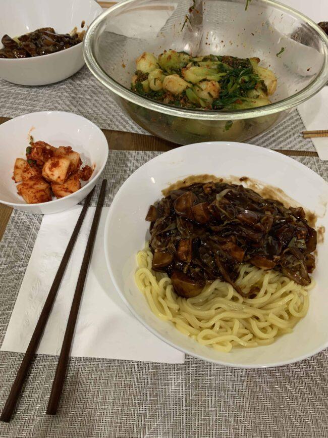 Maangchi dinner!