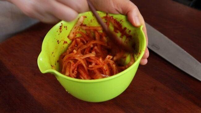 dongchimi radish kimchi