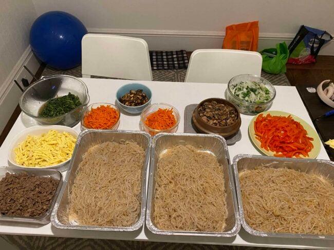 Made japchae in bulk using your recipe for a church's fundraiser!