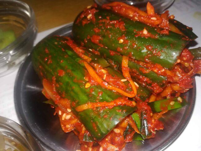 cucumber kimchi - oisobagi