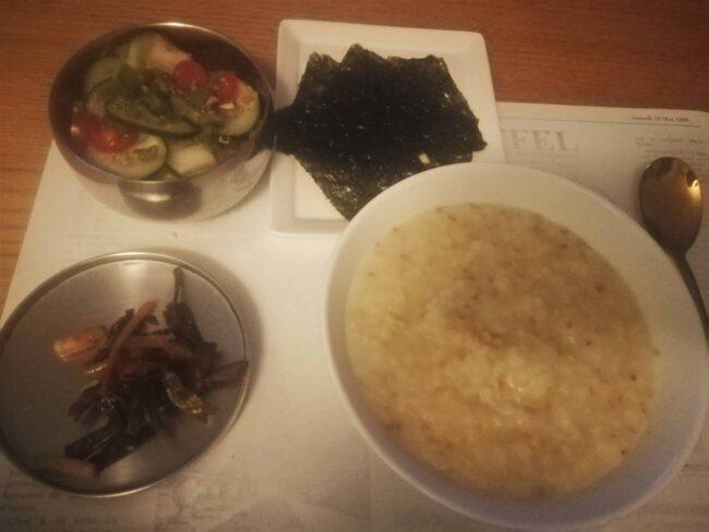 mung bean porridge (nokdujuk)