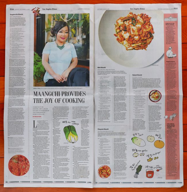 Maangchi in LA Times Oct 01, 2020