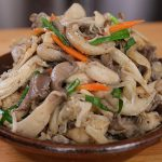 stir-fried oyster mushrooms