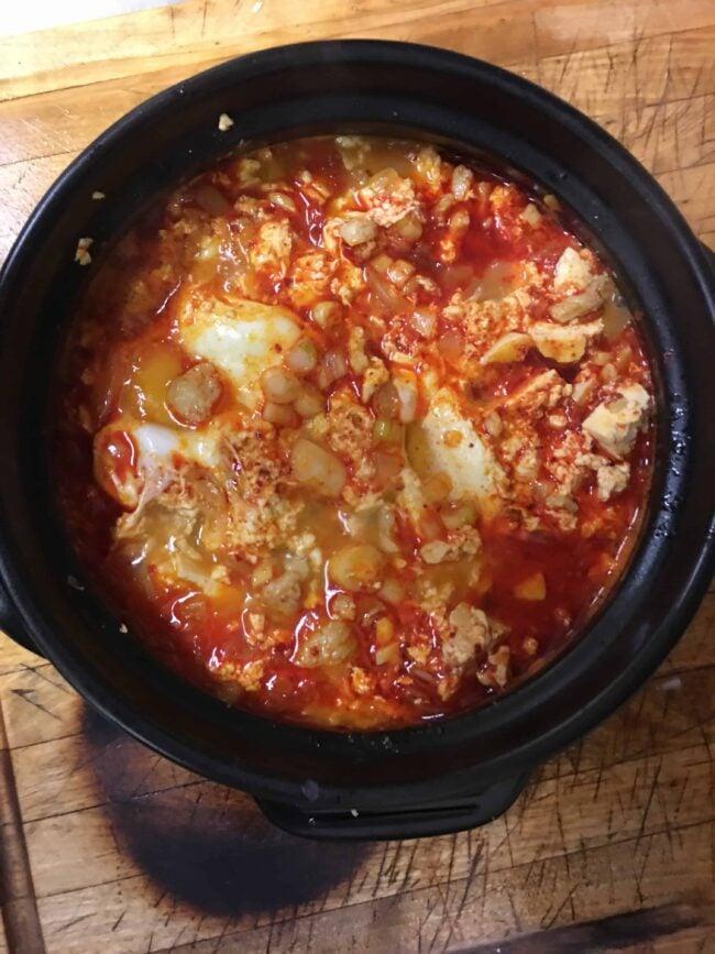Spicy soft tofu stew