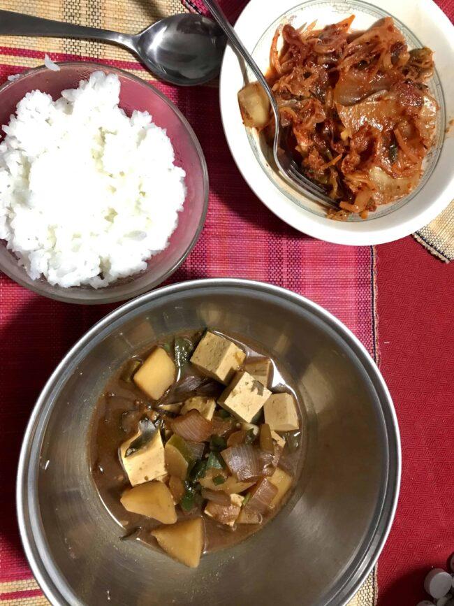 Doenjang-jjigae (Vegetarian version)