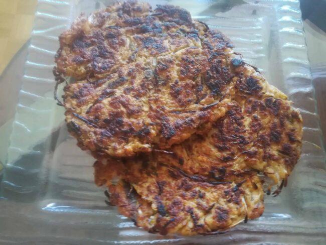 Bindaetteok - mung bean pancake