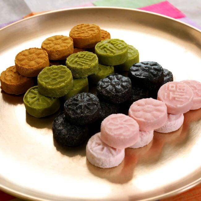 Korean traditional pressed cookies